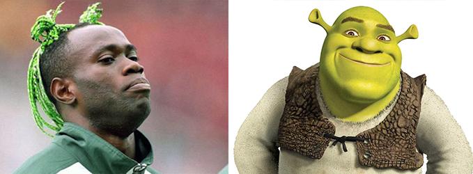 Looks de futbolistas - El Shrek